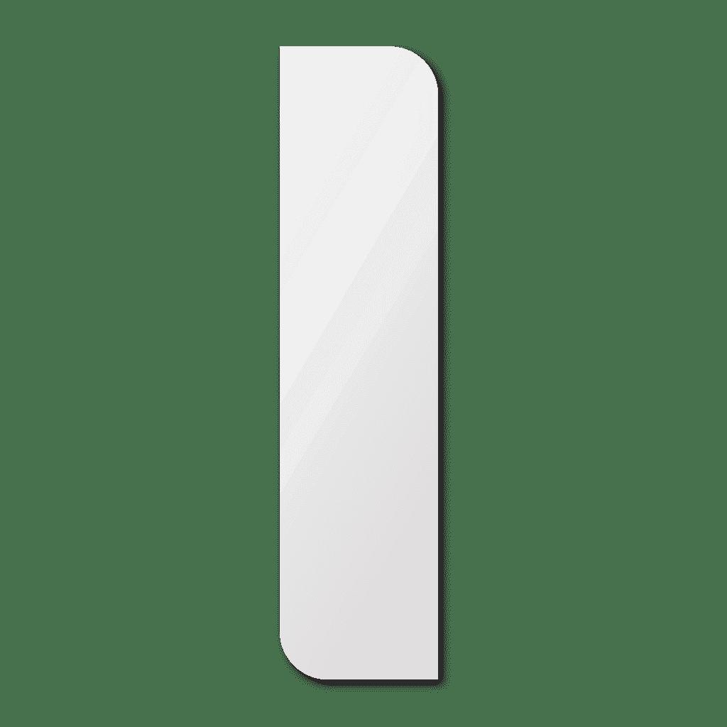 Фигурное зеркало 1200×500 мм с еврокромкой и креплением на клей