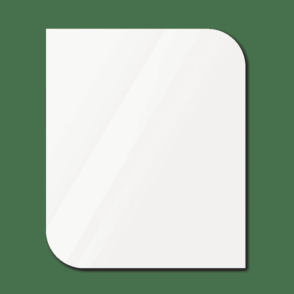 Фигурное зеркало 600×400 мм осветленное с еврокромкой и креплением на клей