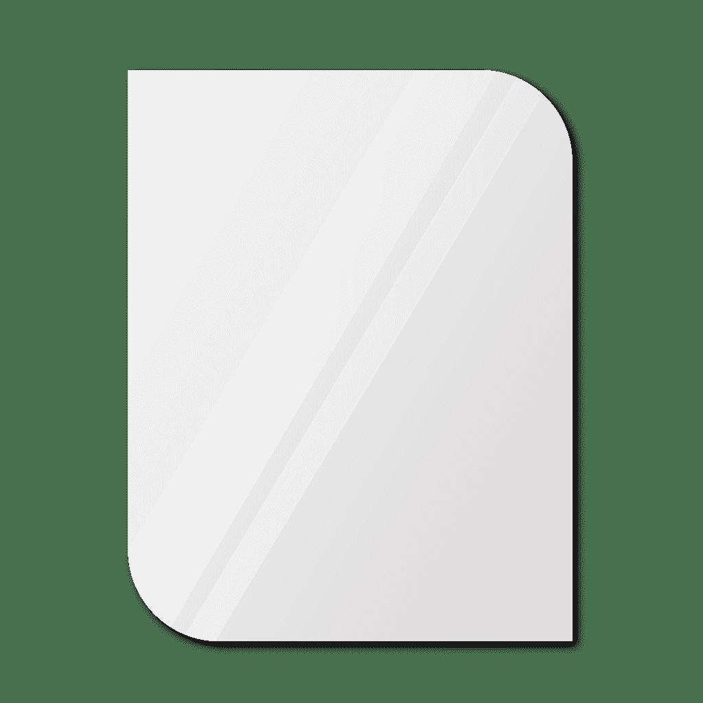 Фигурное зеркало 1400×1100 мм с еврокромкой и креплением на клей