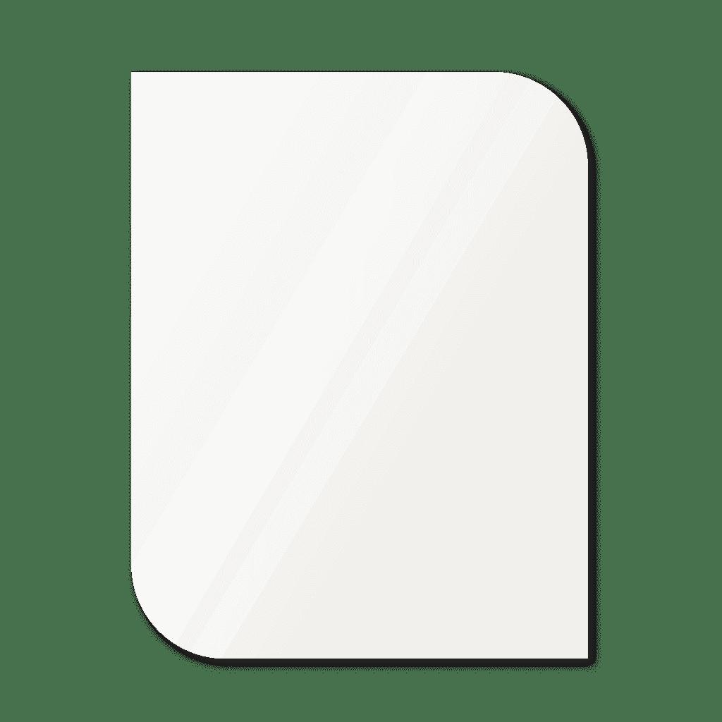 Фигурное зеркало 1400×1100 мм осветленное с еврокромкой и креплением на клей