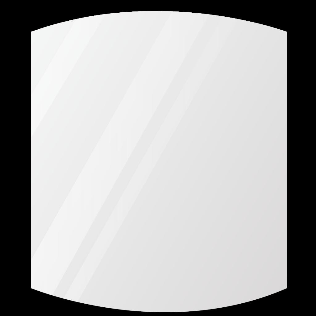 Фигурное зеркало 500×500 мм с еврокромкой и креплением на клей