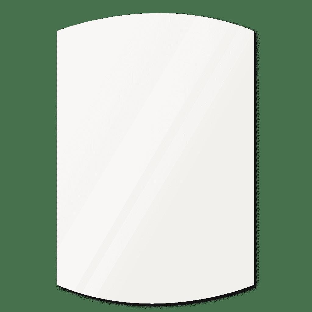 Фигурное зеркало 1400×1200 мм осветленное с еврокромкой и креплением на клей