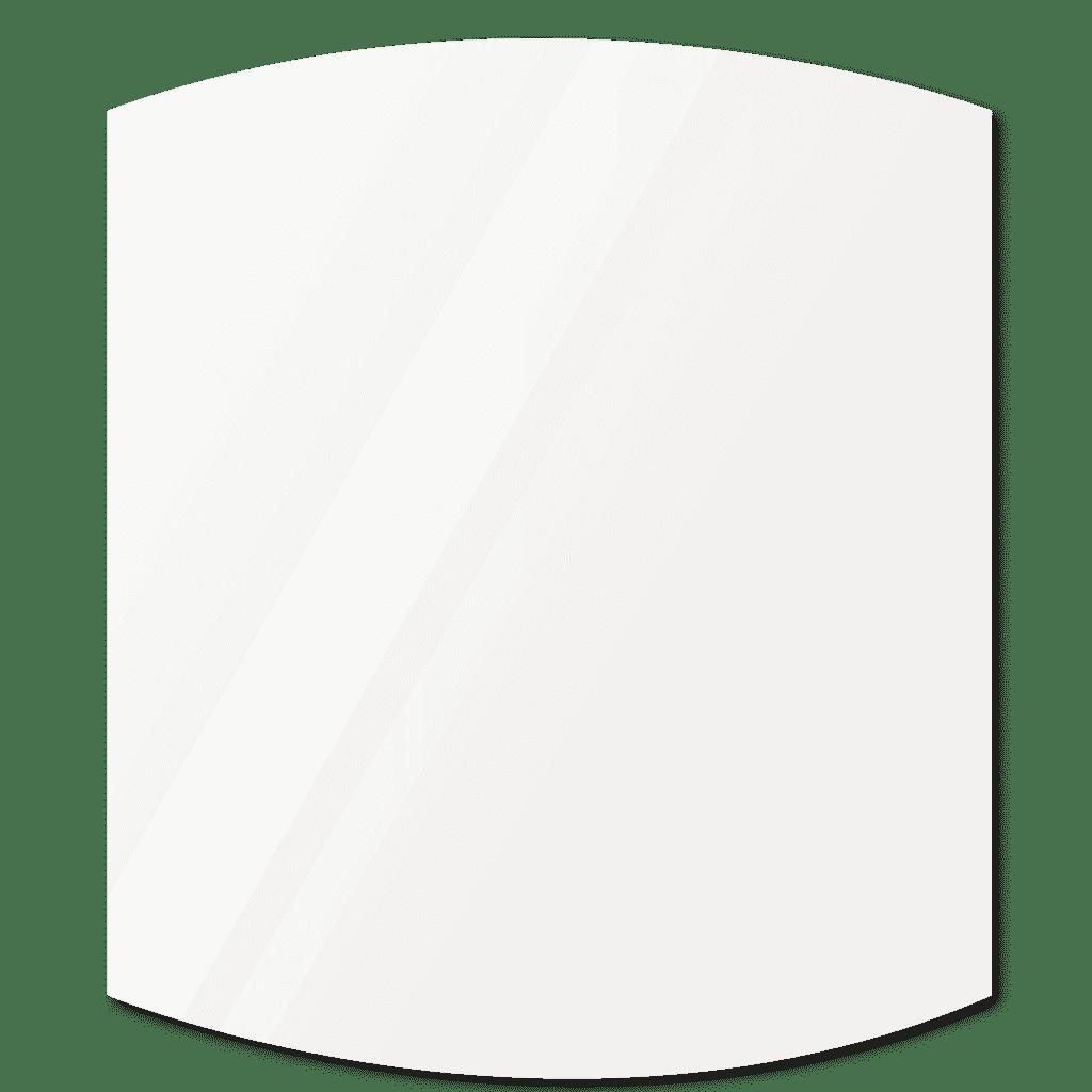 Фигурное зеркало 500×500 мм осветленное с еврокромкой и креплением на клей