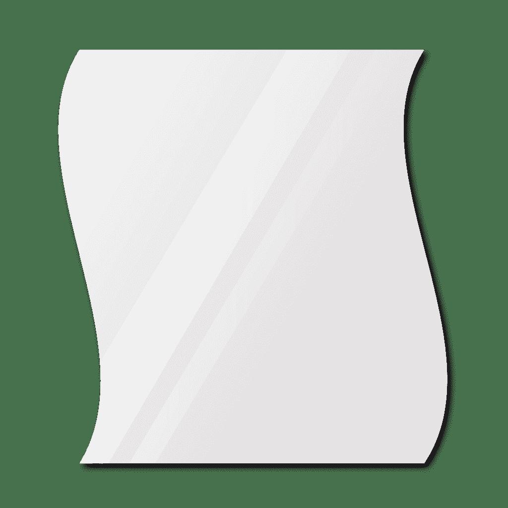 Фигурное зеркало 600×700 мм с еврокромкой и креплением на клей