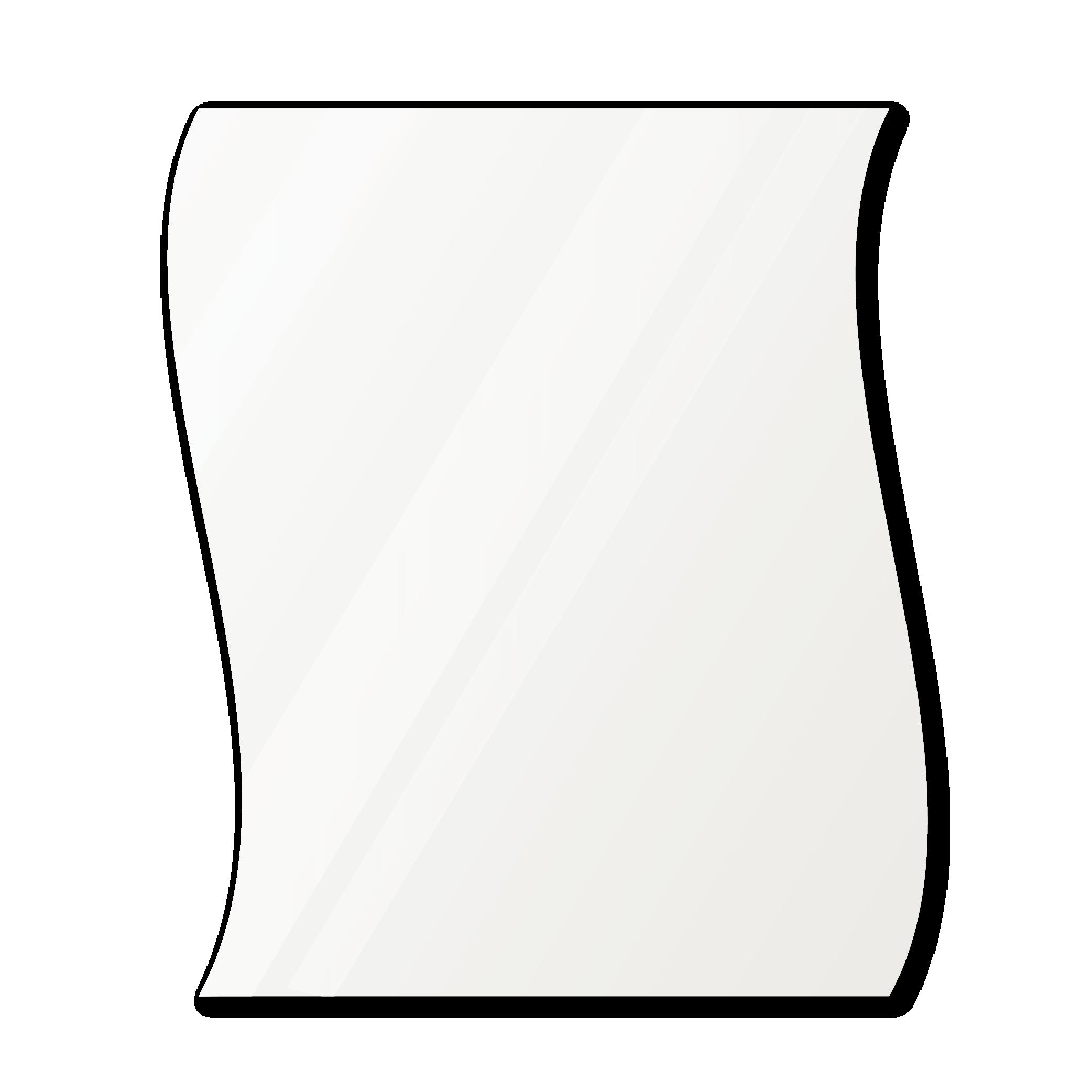Фигурное зеркало 1000×900 мм осветленное с еврокромкой и креплением на клей