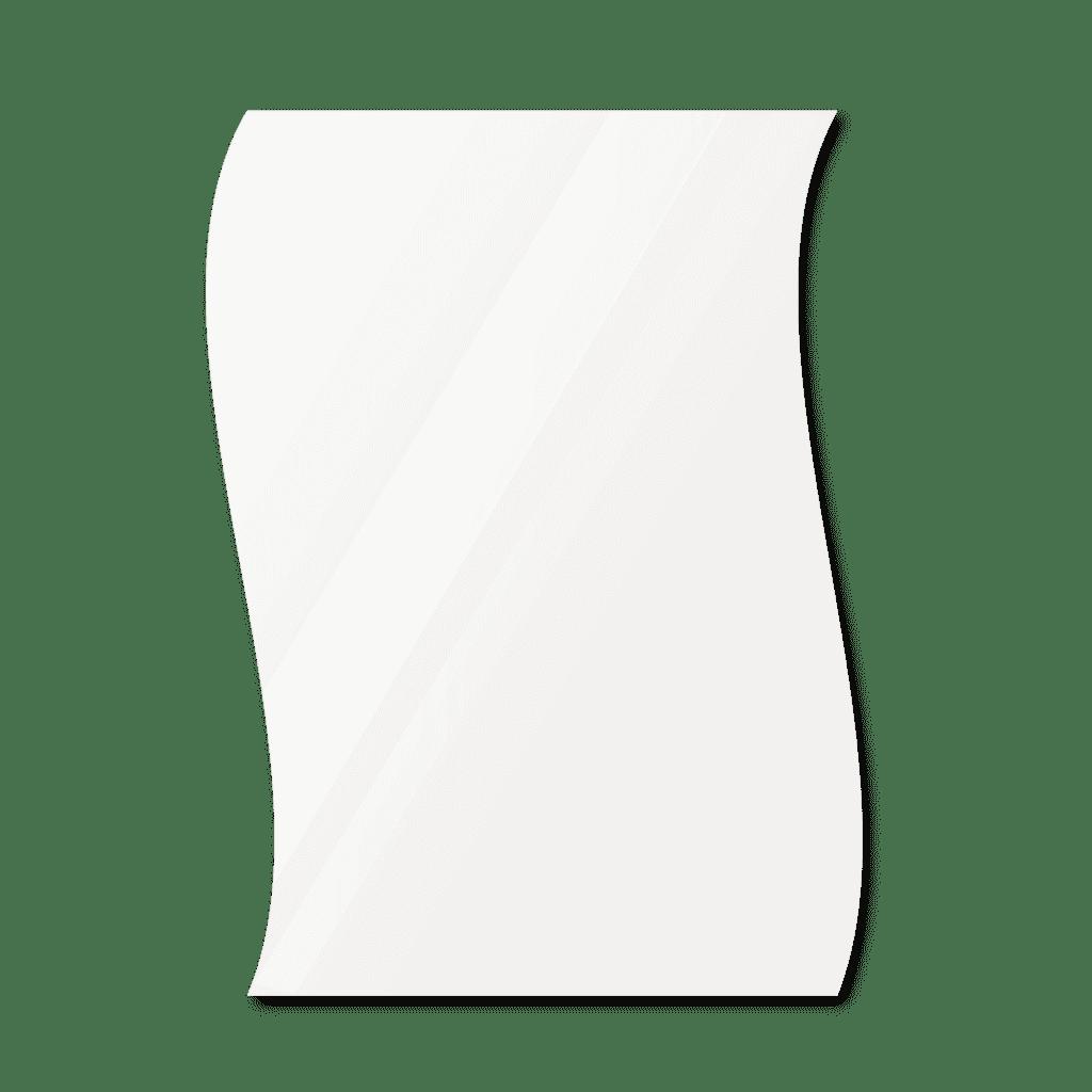 Фигурное зеркало 500×700 мм осветленное с еврокромкой и креплением на клей