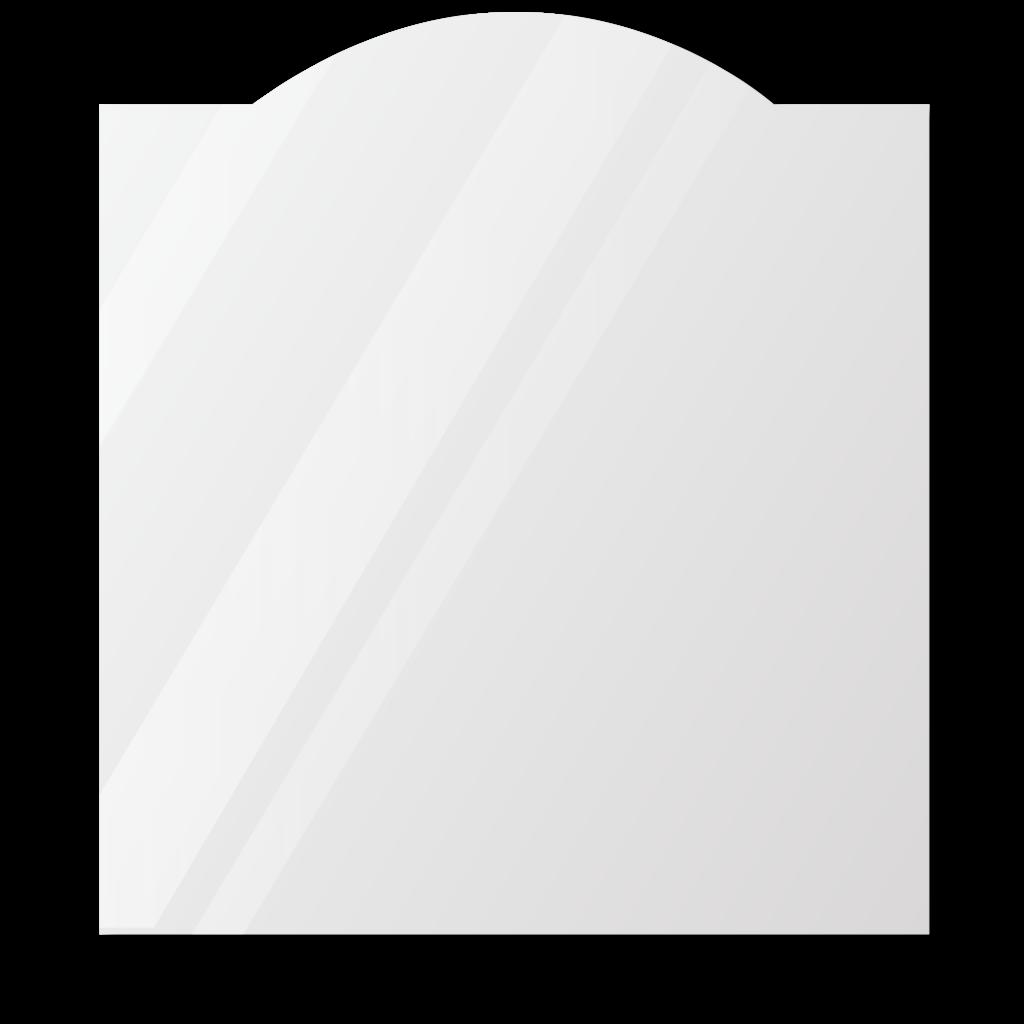 Фигурное зеркало 1000×1000 мм с еврокромкой и креплением на клей