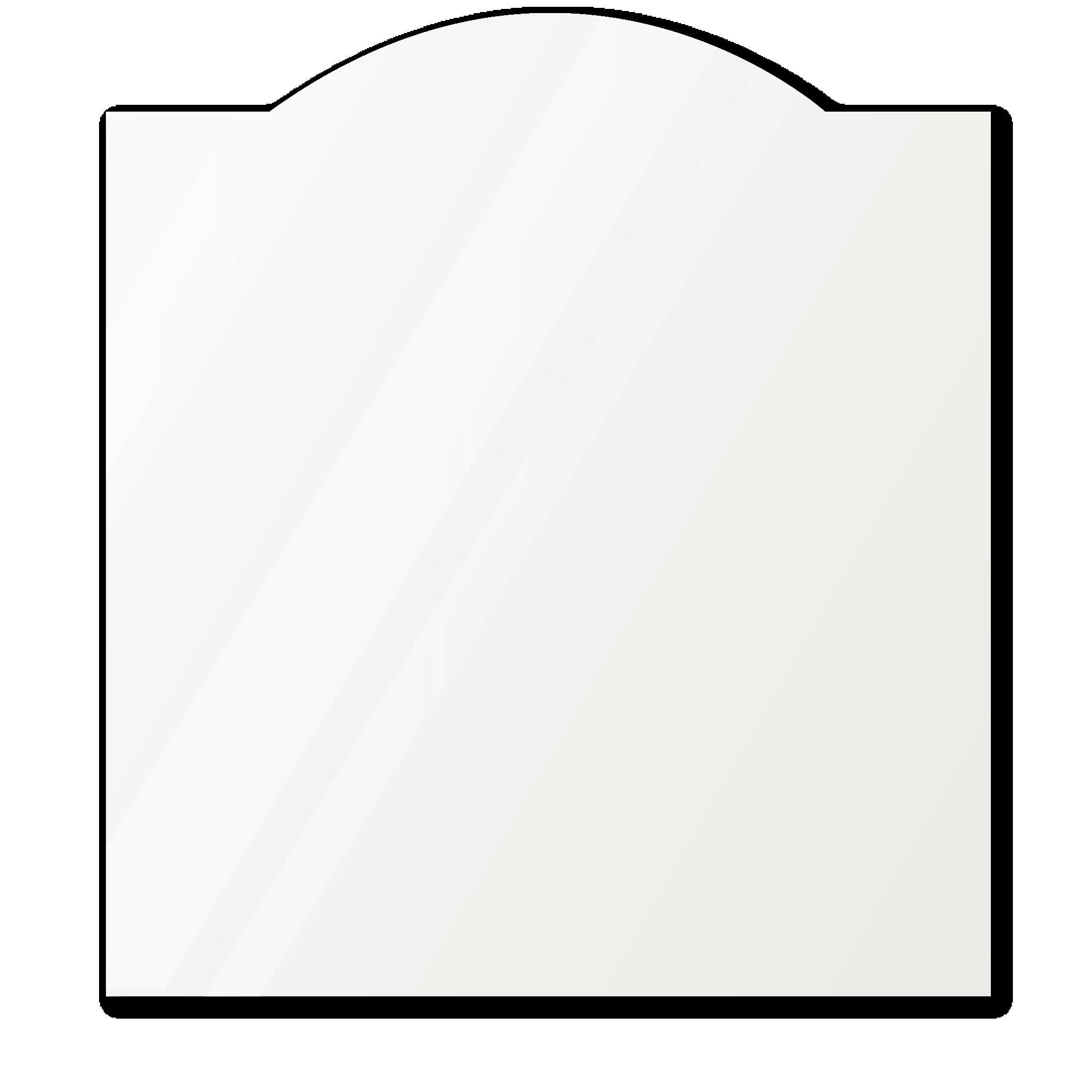 Фигурное зеркало 1000×1000 мм осветленное с еврокромкой и креплением на клей