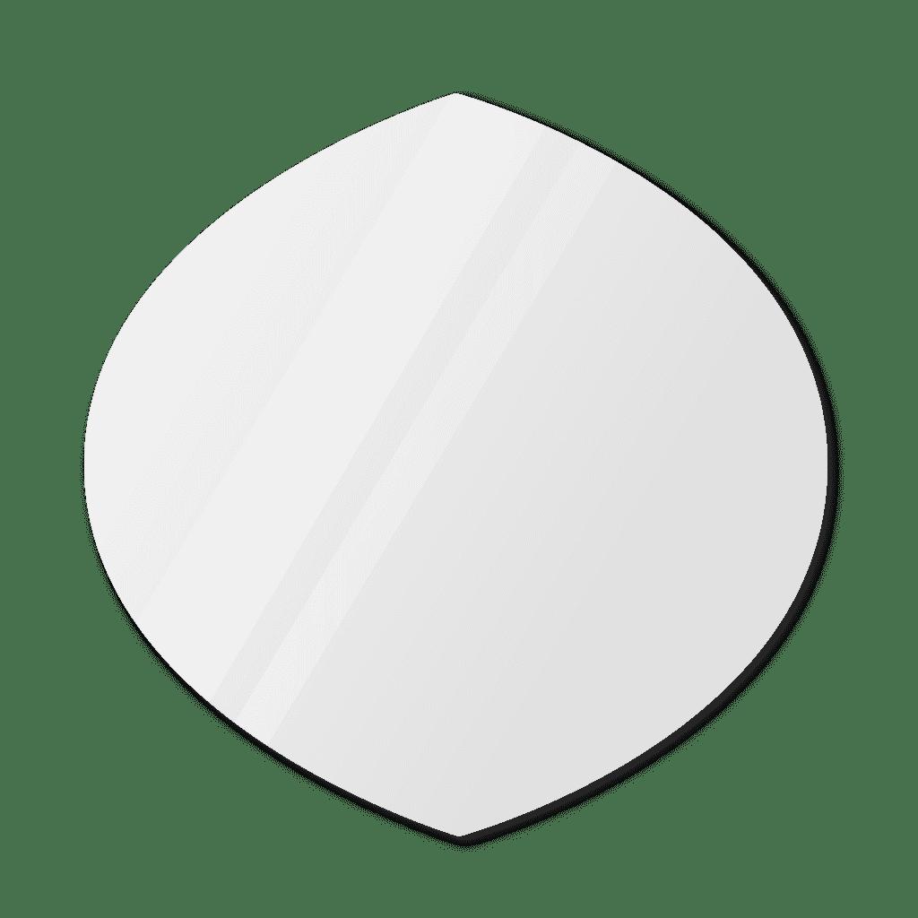 Фигурное зеркало 900×900 мм с еврокромкой и креплением на клей