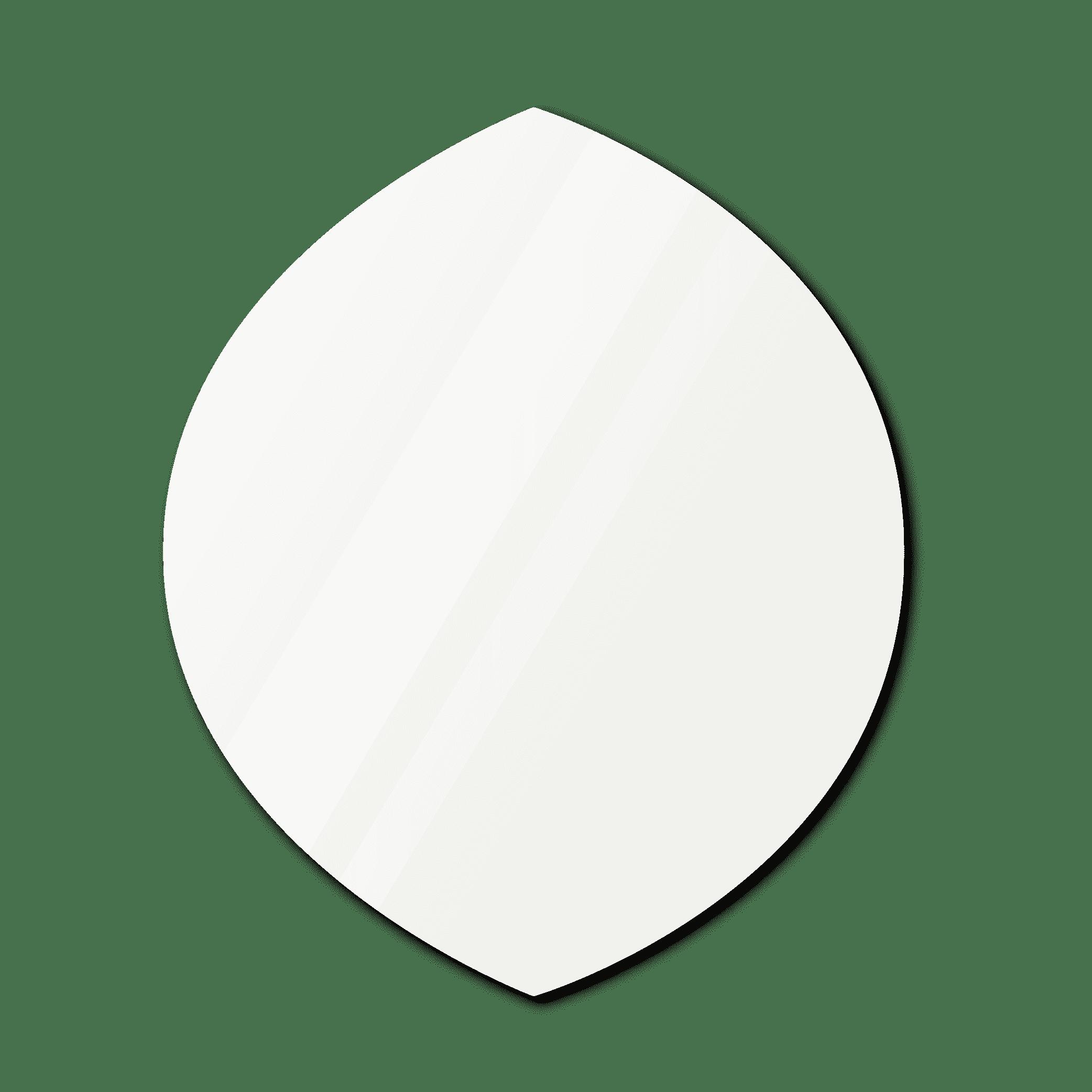 Фигурное зеркало 1000×1100 мм осветленное с еврокромкой и креплением на клей