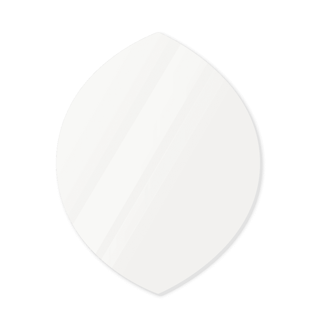 Фигурное зеркало 1500×1200 мм осветленное с еврокромкой и креплением на клей