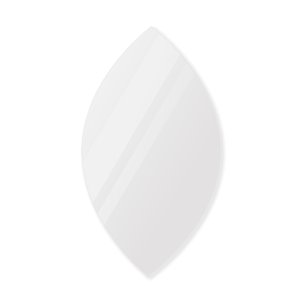 Фигурное зеркало 500×900 мм с еврокромкой и креплением на клей