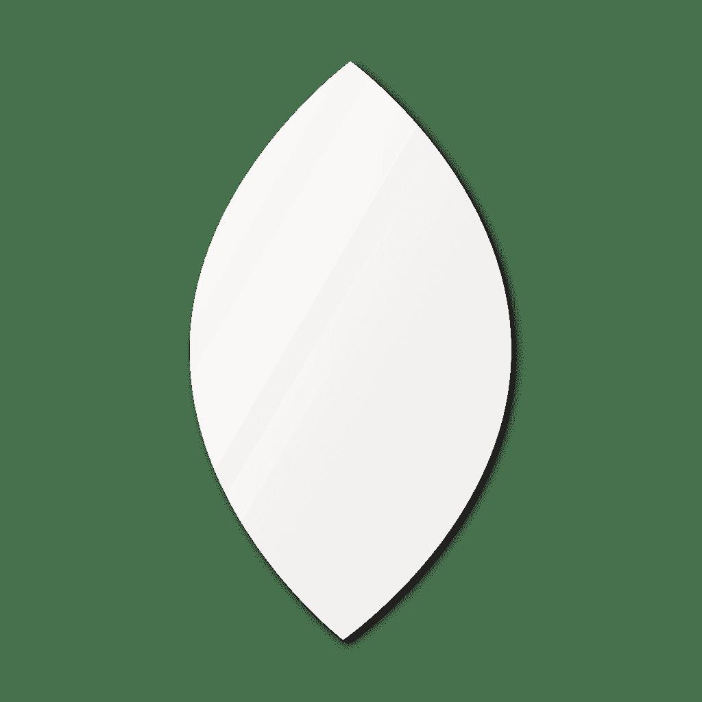 Фигурное зеркало 500×900 мм осветленное с еврокромкой и креплением на клей