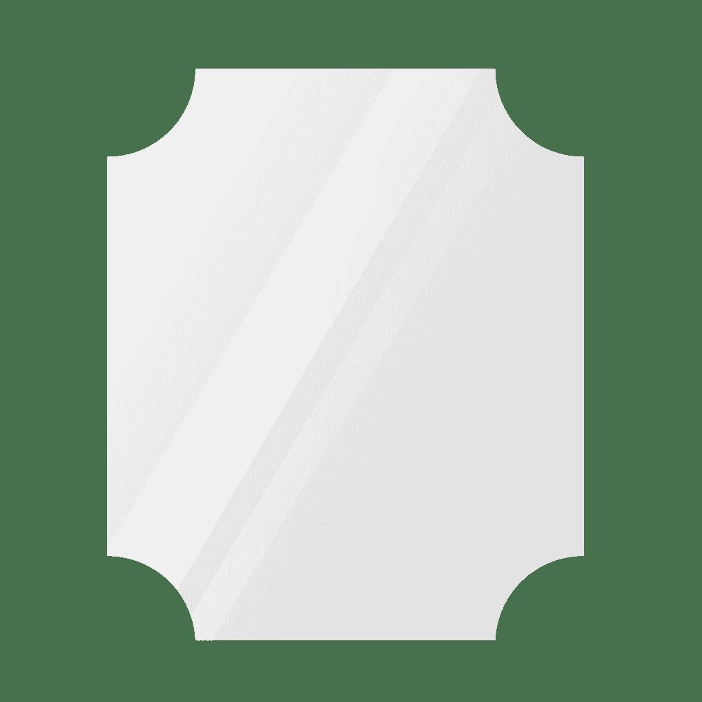Фигурное зеркало 1600×1100 мм с еврокромкой и креплением на клей