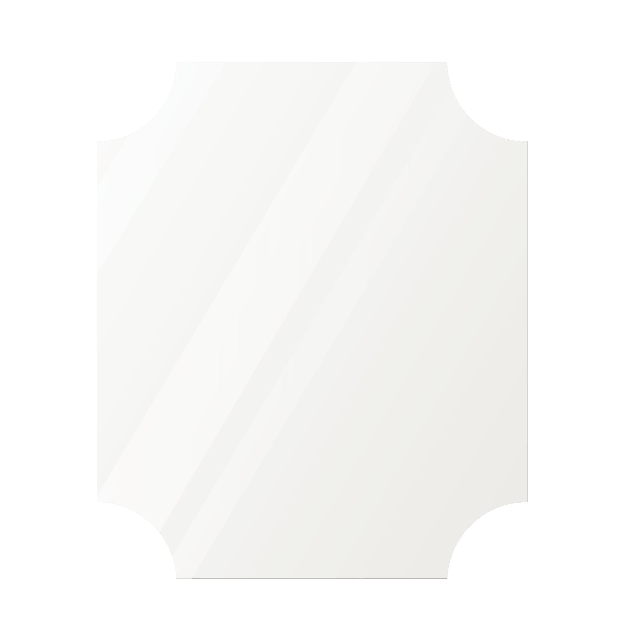 Фигурное зеркало 1400×900 мм осветленное с еврокромкой и креплением на клей