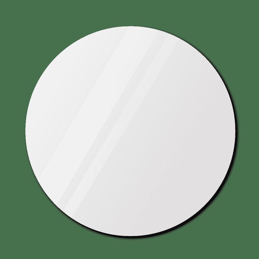 Фигурное зеркало 1100×1100 мм с еврокромкой и креплением на клей