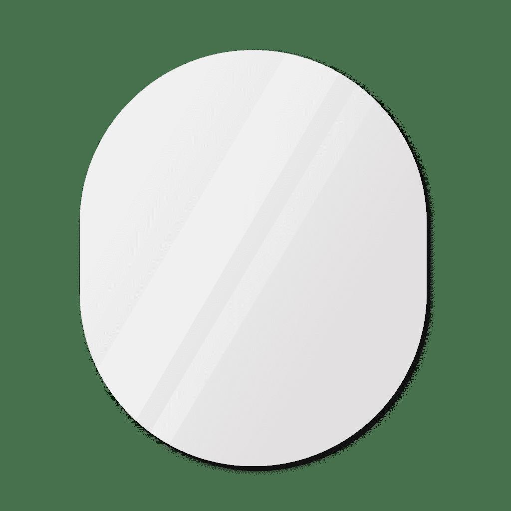 Фигурное зеркало 1400×1000 мм с еврокромкой и креплением на клей