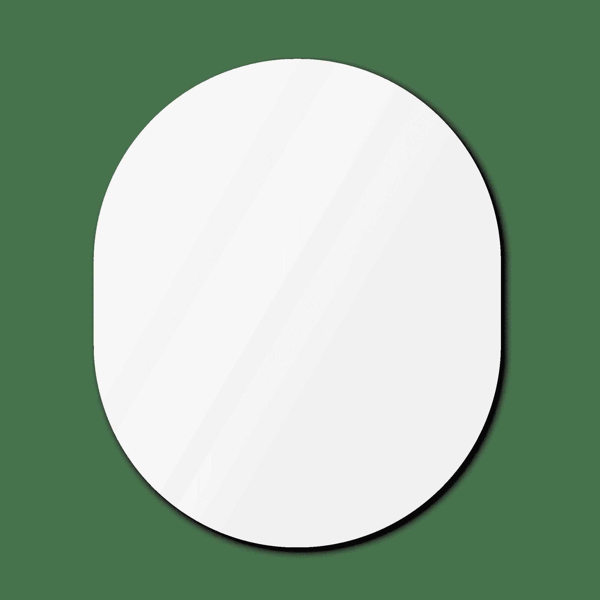 Фигурное зеркало 1700×1200 мм осветленное с еврокромкой и креплением на клей