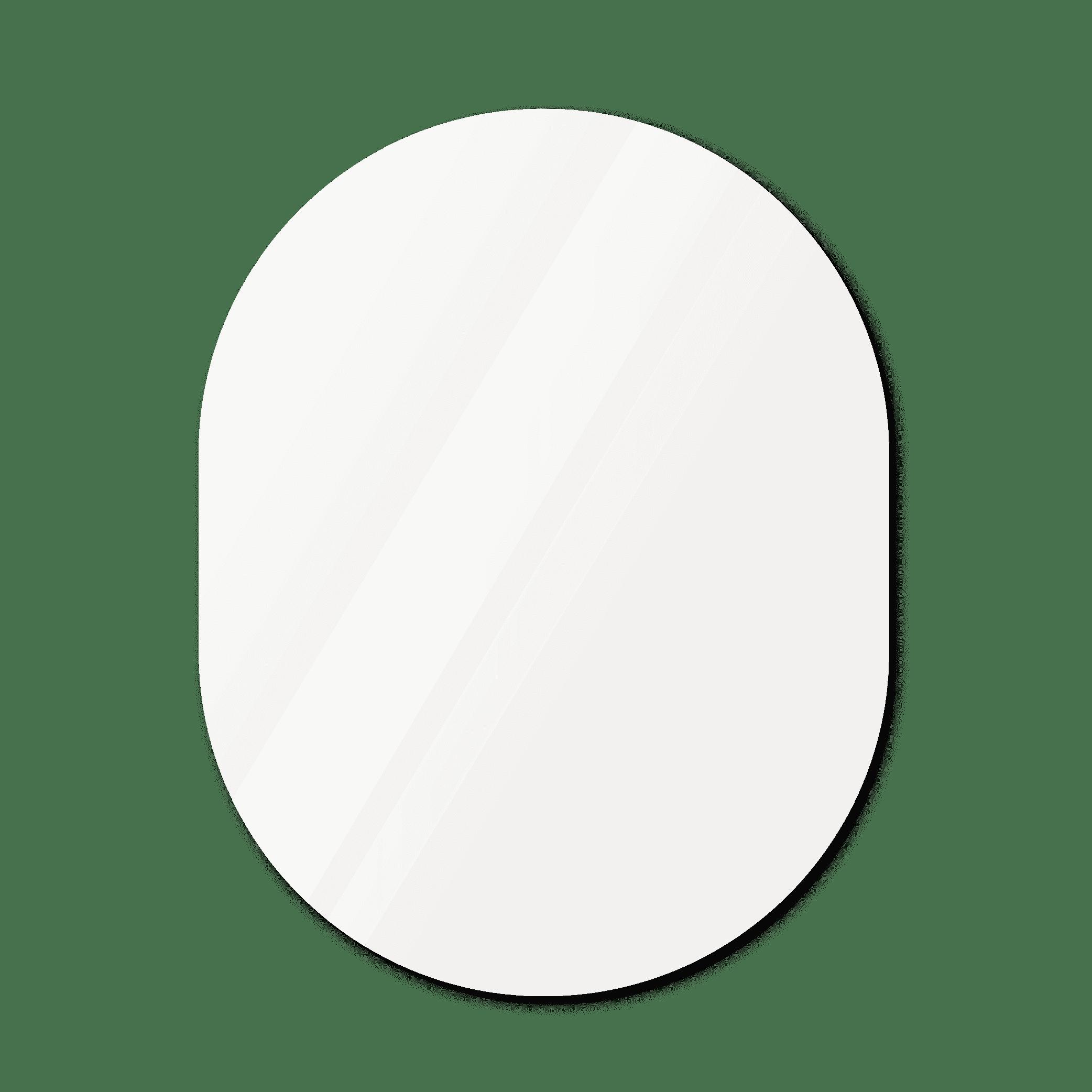 Фигурное зеркало 1600×1200 мм осветленное с еврокромкой и креплением на клей