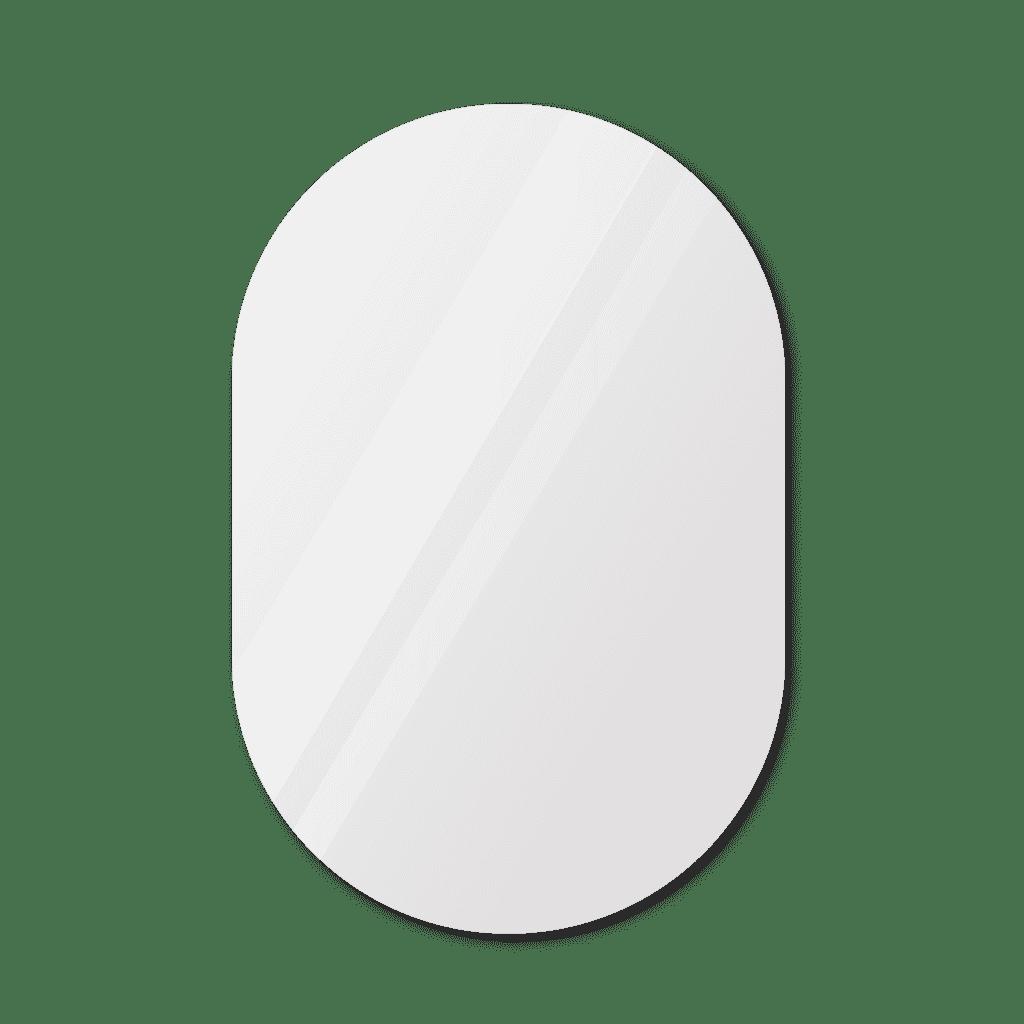 Фигурное зеркало 800×1200 мм с еврокромкой и креплением на клей