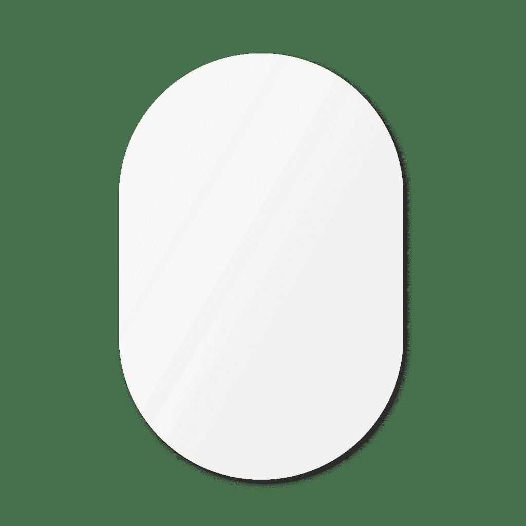 Фигурное зеркало 800×1200 мм осветленное с еврокромкой и креплением на клей