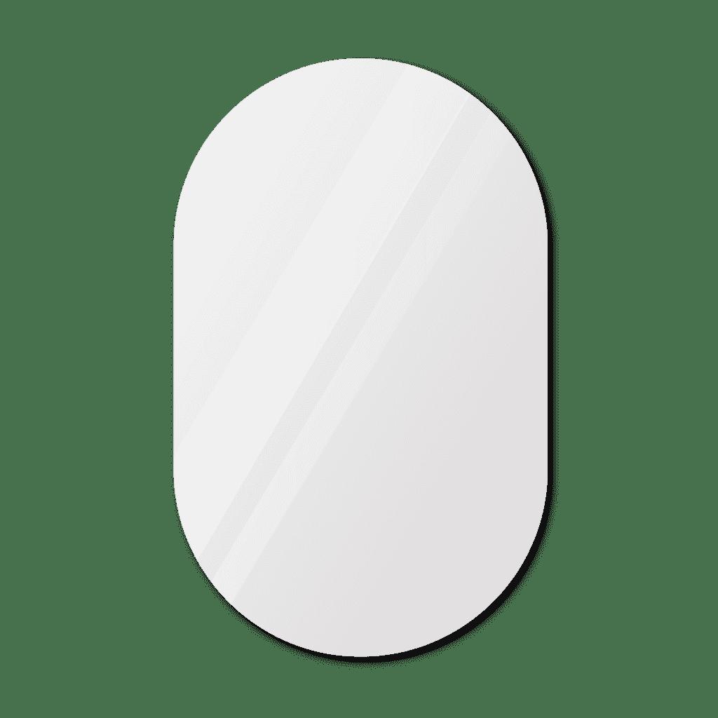 Фигурное зеркало 700×1200 мм с еврокромкой и креплением на клей