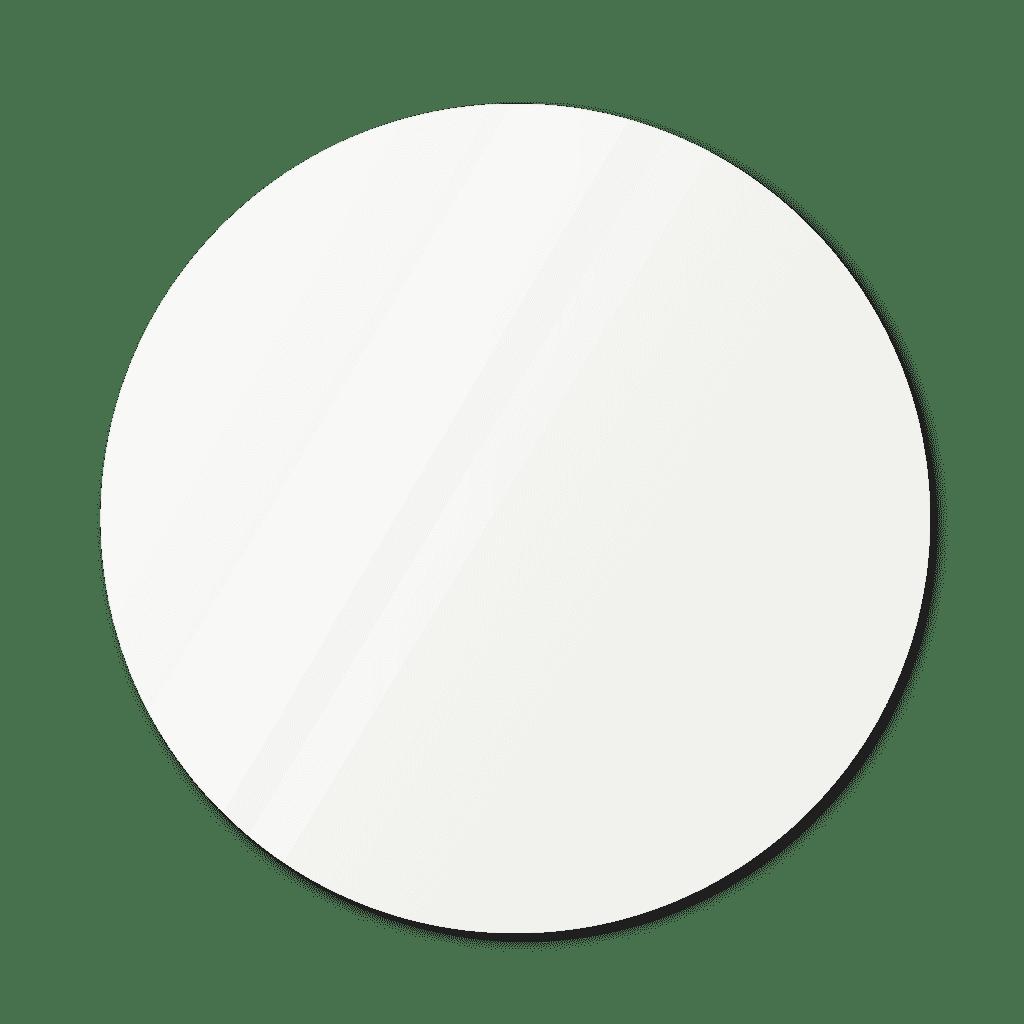 Фигурное зеркало 1100×1100 мм осветленное с еврокромкой и креплением на клей