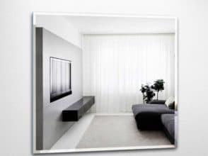 Зеркало с фацетом в интерьере гостиной