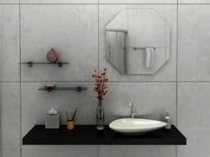 Зеркало настенное восьмигранник