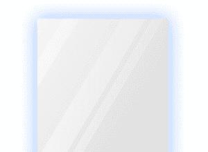 Зеркало 900×1200 мм с парящей подсветкой и фацетом 25 мм