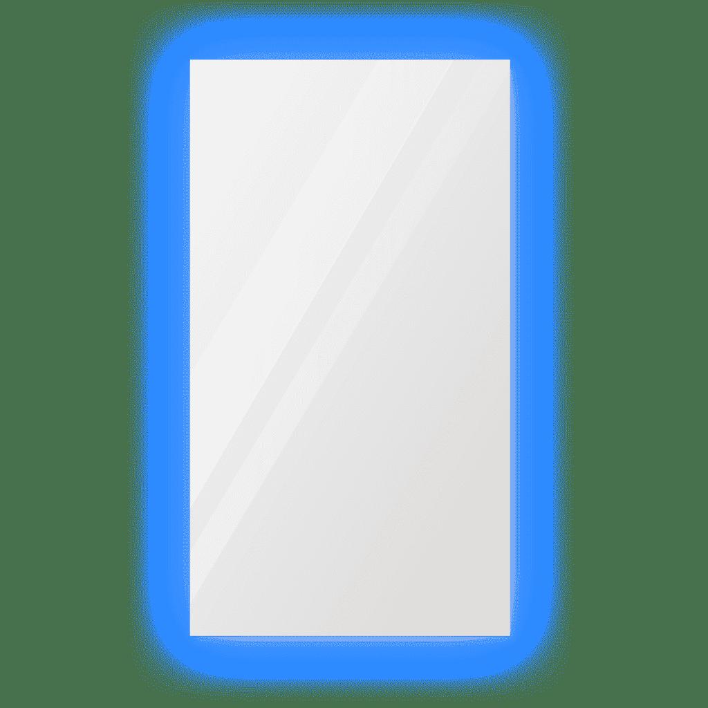 Зеркало 800×1400 мм с парящей подсветкой и фацетом 5 мм