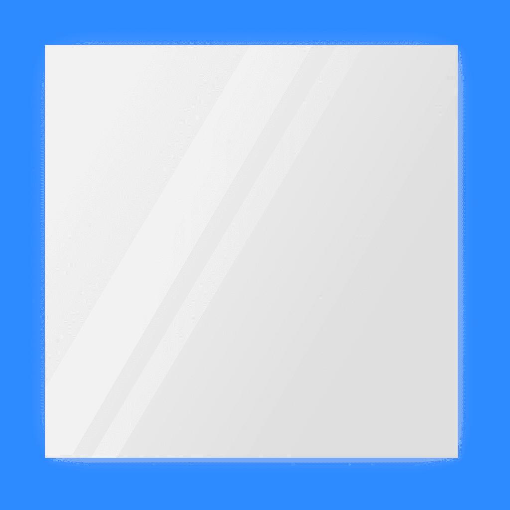Зеркало 600×600 мм с парящей подсветкой и фацетом 25 мм