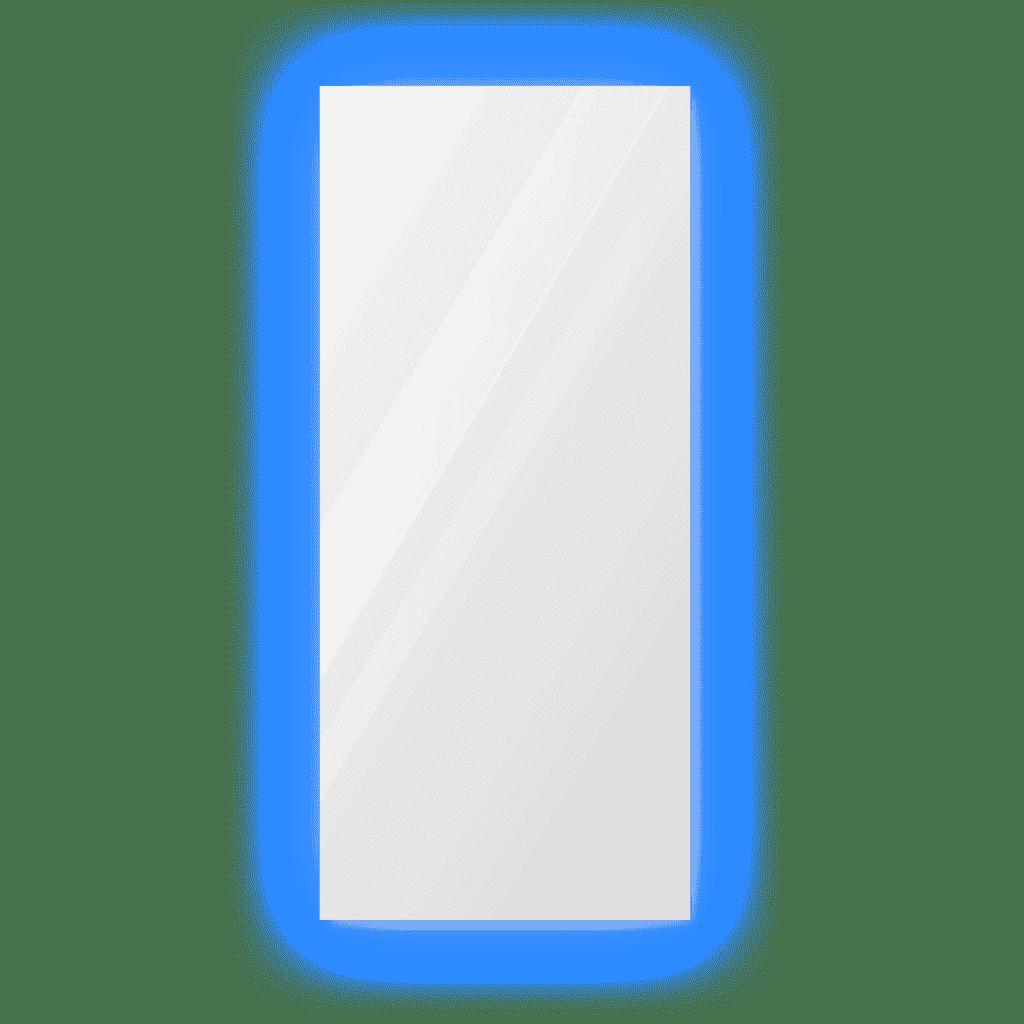 Зеркало 300×700 мм с парящей подсветкой и полированной кромкой