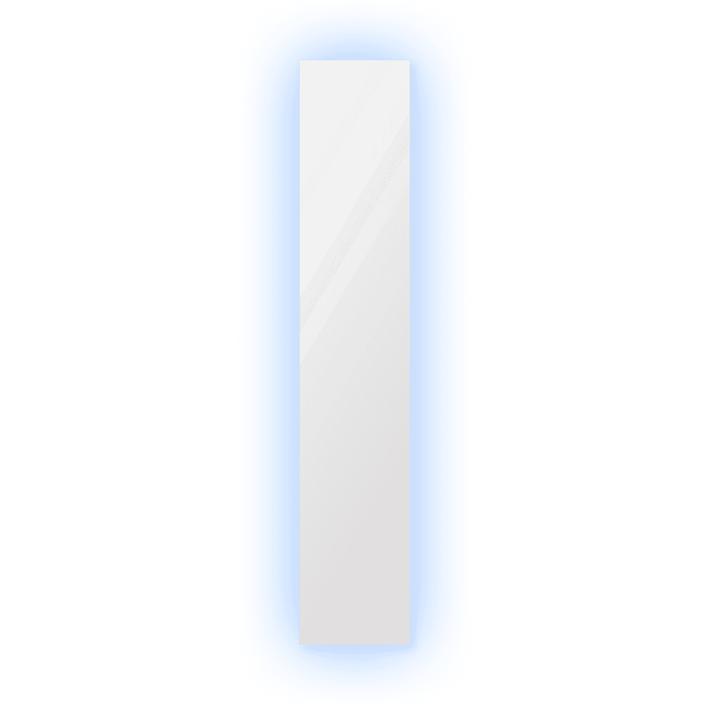 Зеркало 300×1600 мм с парящей подсветкой и полированной кромкой