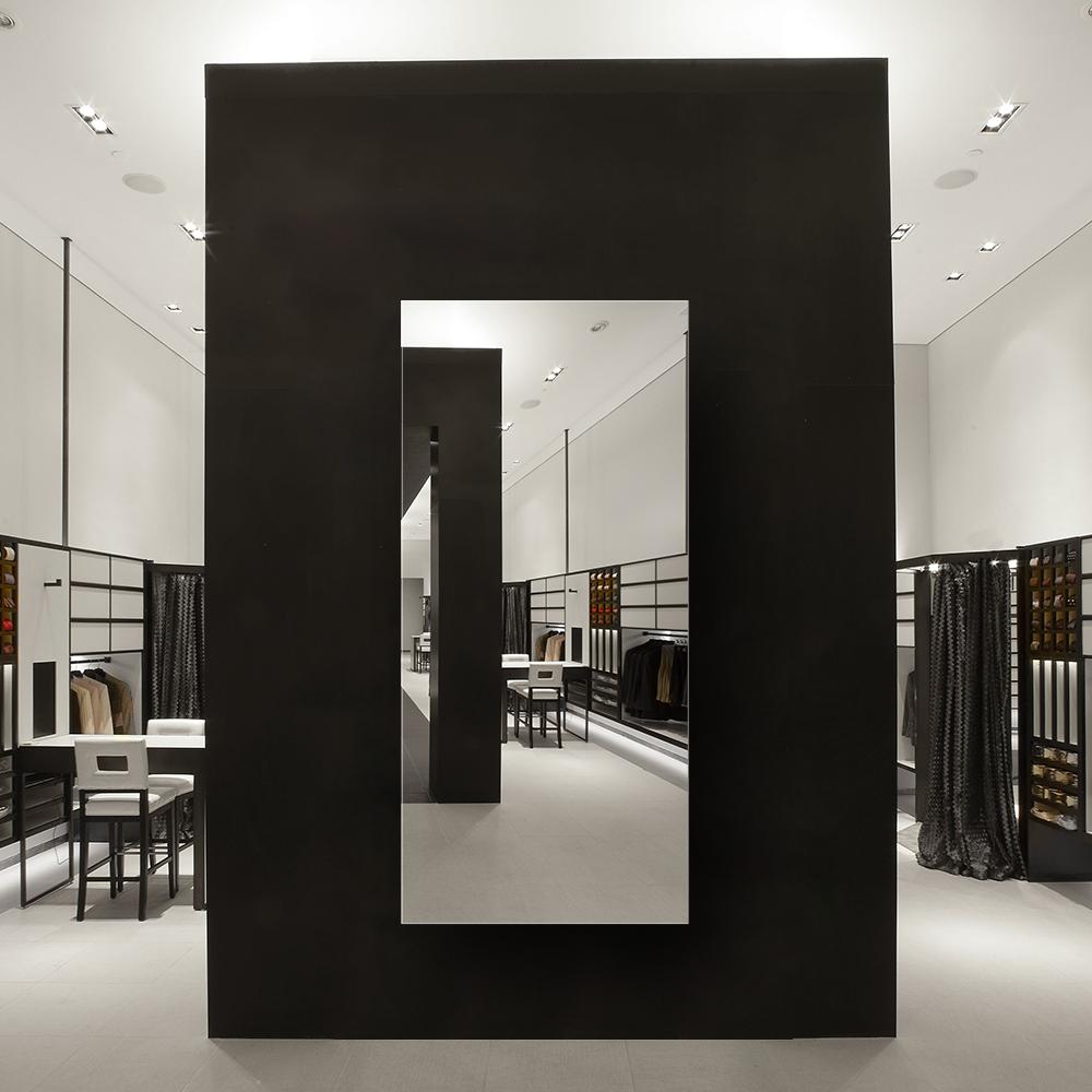 Зеркало для магазина 400×900 мм с фацетом 15 мм и скрытым креплением