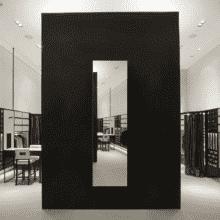 Зеркало для магазина 400×1600 мм с фацетом 5 мм и скрытым креплением