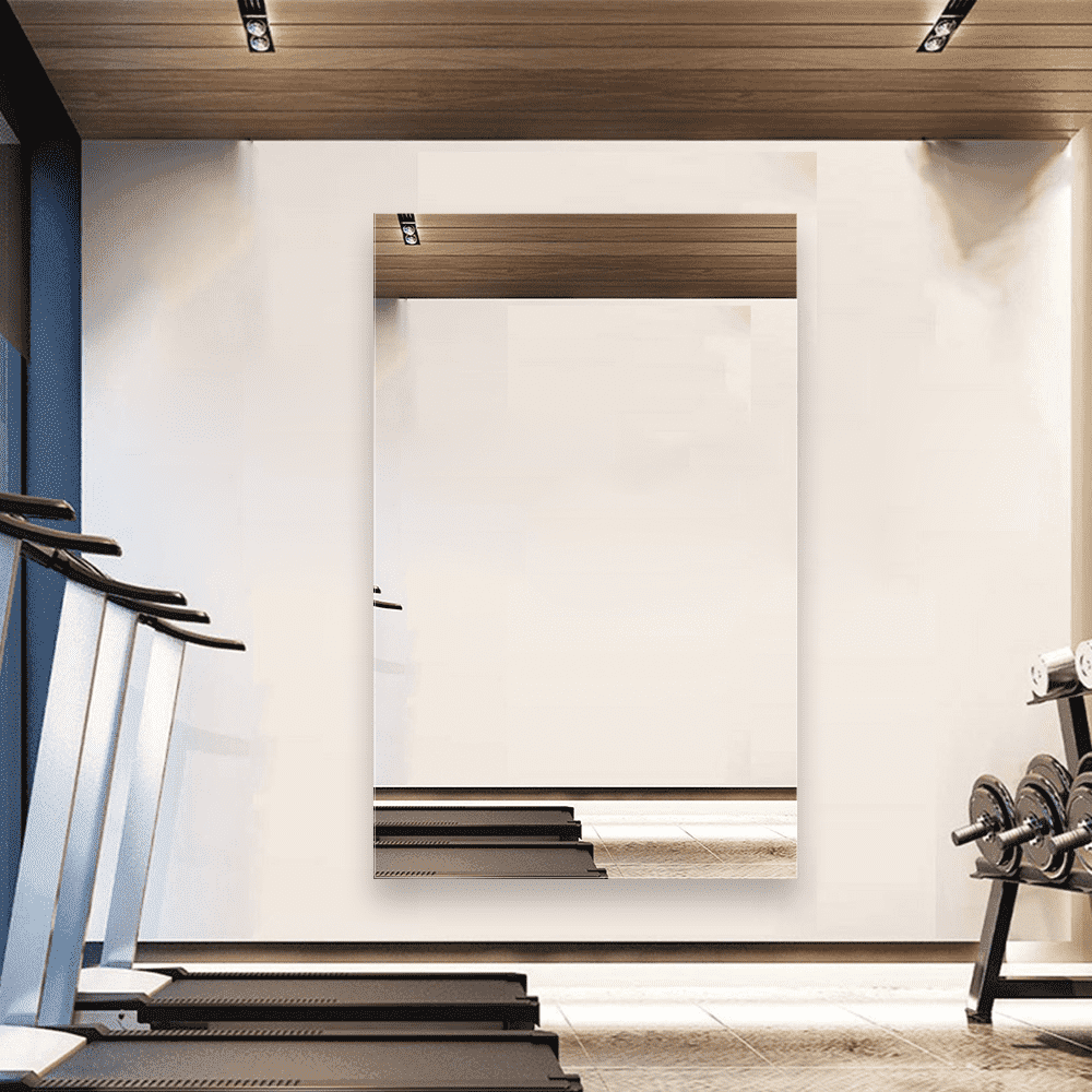 Зеркало для спортзала 500×800 мм с полированной кромкой и с отверстиями для крепления