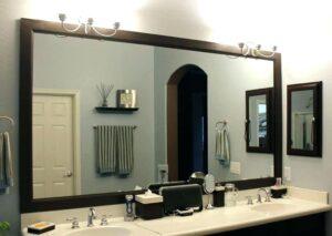 Прямоугольное зеркало в деревянной раме, 1000х1400