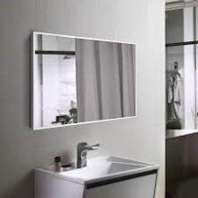 Прямоугольное осветленное зеркало в алюминиевой раме, 800х1000