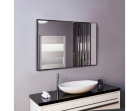 Прямоугольное зеркало в алюминиевой раме, 700х900
