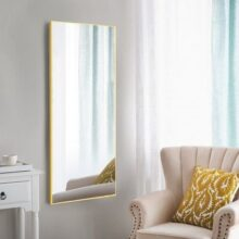 Прямоугольное осветленное зеркало в алюминиевой раме, 600х1000