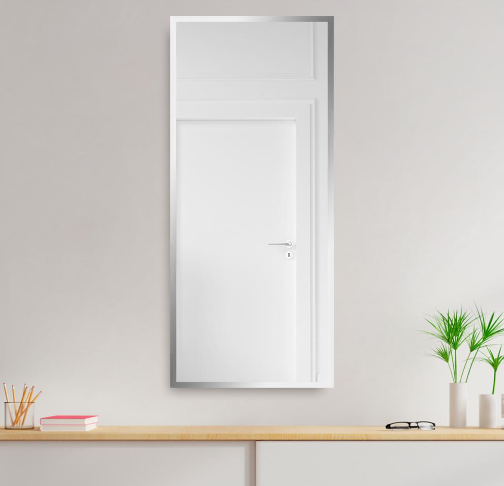 Зеркало 400×1000 мм с фацетом 10 мм в алюминиевой раме