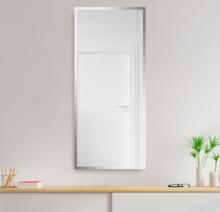 Зеркало 500×1200 мм с полированной кромкой в алюминиевой раме