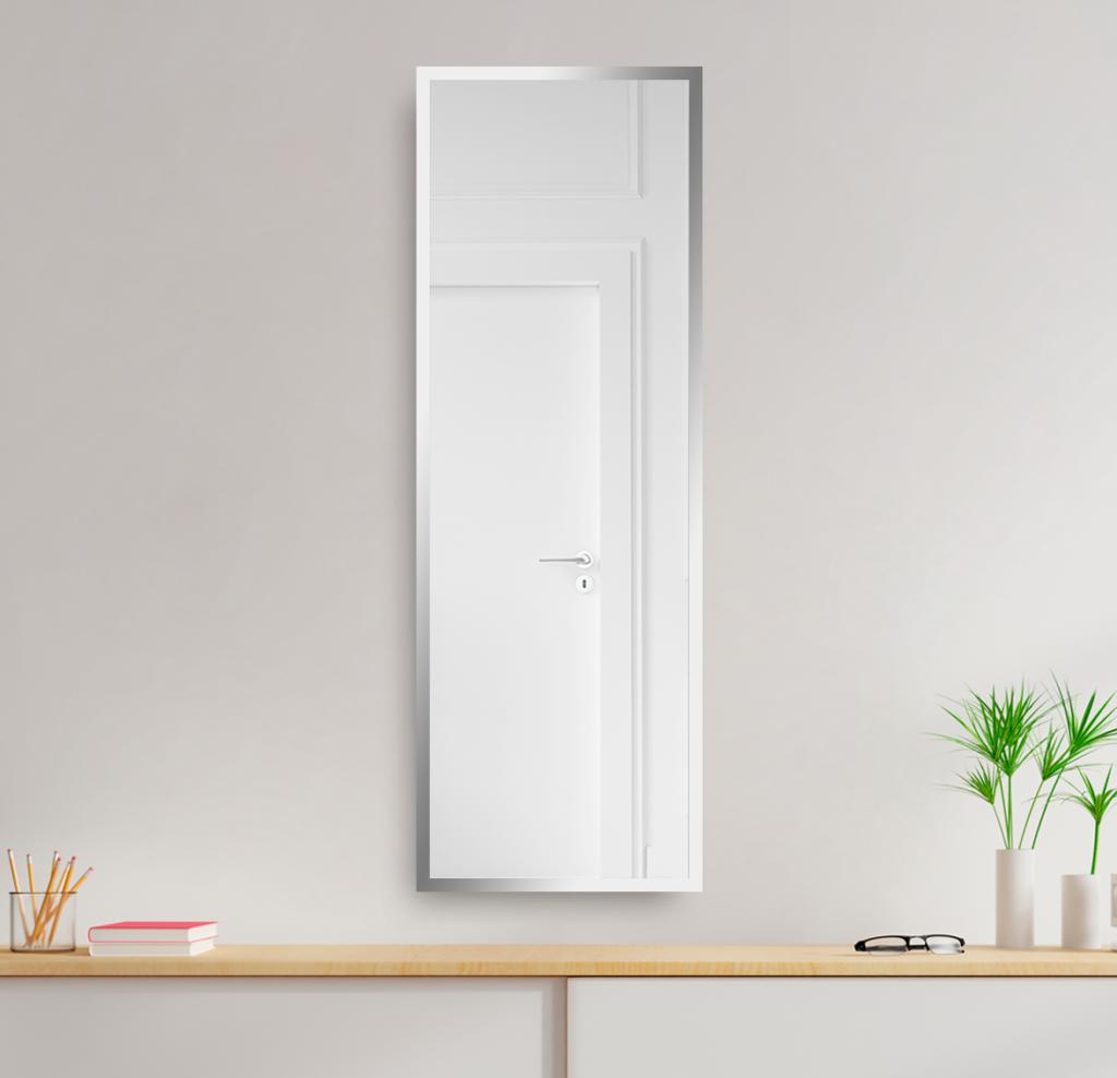 Зеркало 400×1400 мм с фацетом 25 мм в алюминиевой раме