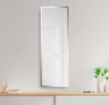 Зеркало 500×1600 мм с полированной кромкой в алюминиевой раме
