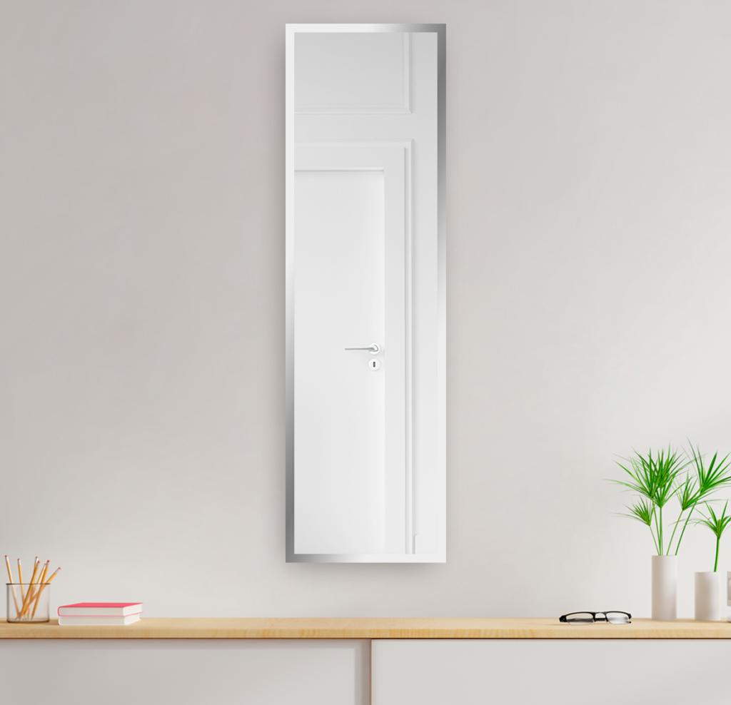 Зеркало 400×1600 мм с фацетом 20 мм в алюминиевой раме