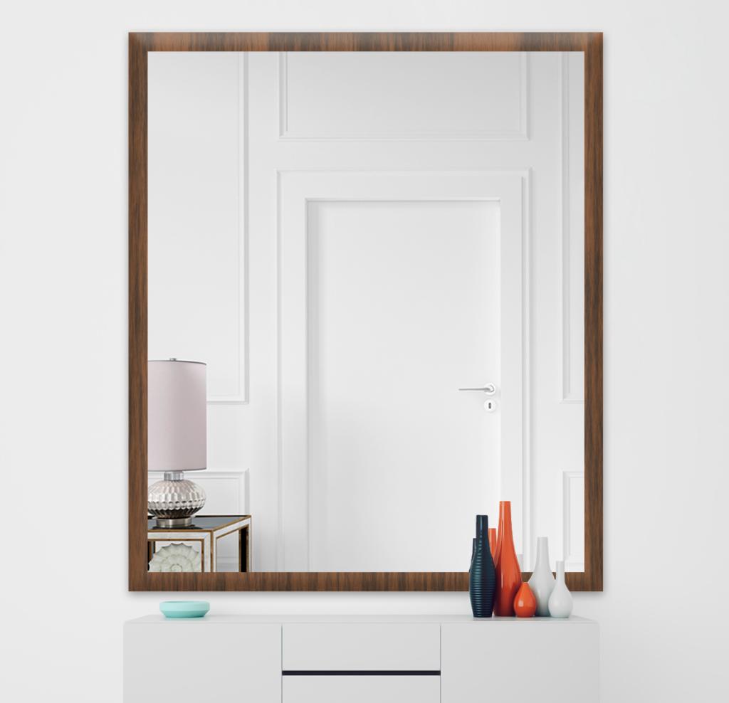 Зеркало 500×600 мм осветленное в деревянной раме