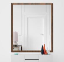 Зеркало 800×900 мм осветленное в деревянной раме