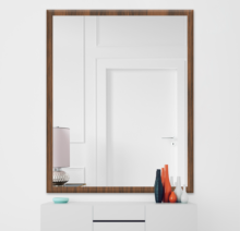 Зеркало 900×1200 мм осветленное в деревянной раме