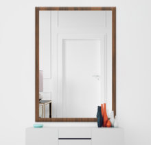 Зеркало 800×1200 мм осветленное в деревянной раме